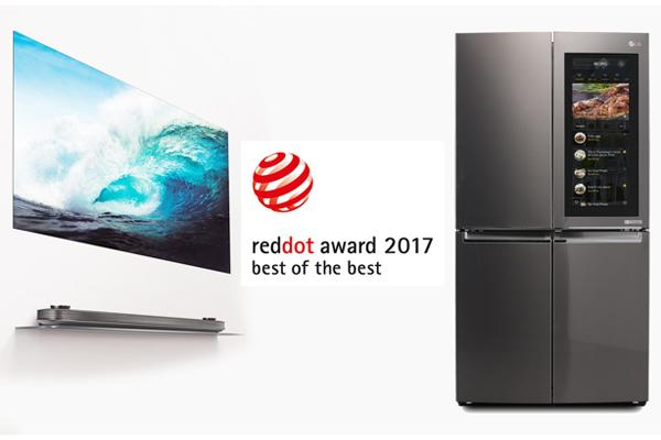 lg galardonado con 20 premios en los red dot awards