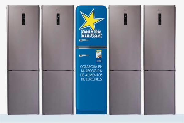 euronics lanza la nevera azul una campaa solidaria junto a banco de alimentos