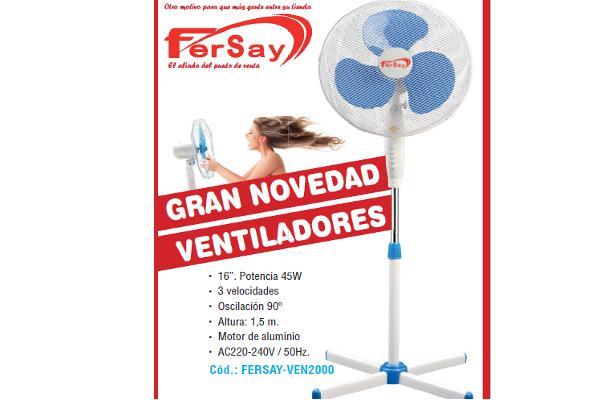 fersay refresca el verano con su nueva gama de ventiladores