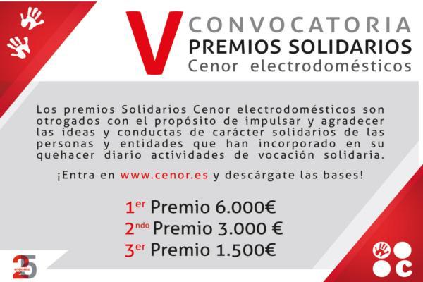 cenor electrodomsticos abre la v convocatoria de sus premios solidarios