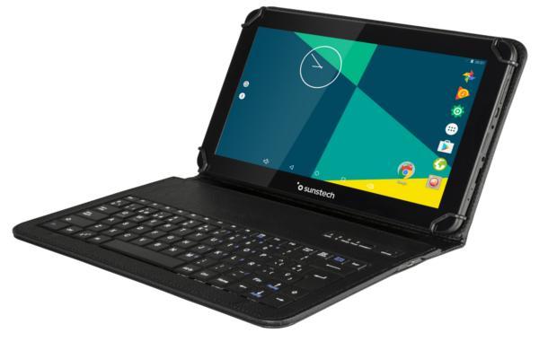la tableta tab103qcbt de sunstech incluye funda con teclado bluetooth