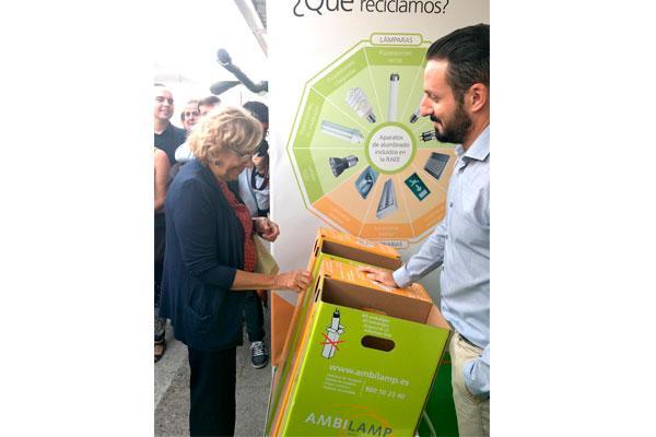 ambilamp fomenta el reciclaje de lmparas en rehabitar madrid