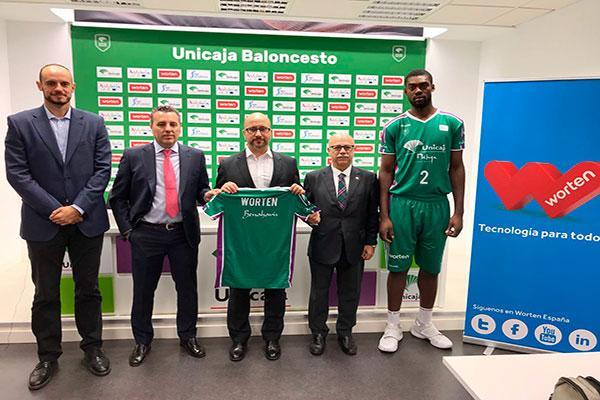 worten patrocinador oficial del unicaja baloncesto