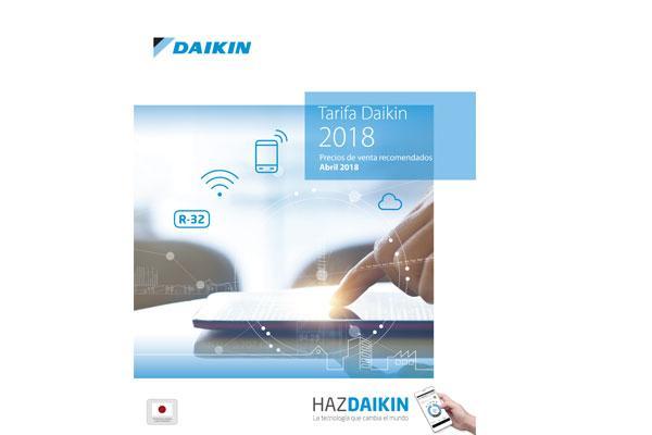 daikin presenta su nueva tarifa de precios para 2018