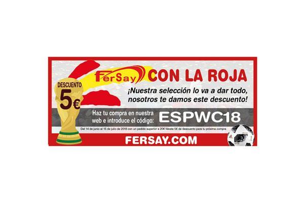 fersay muestra su apoyo a la seleccin aplicando descuentos a los usuarios de su pgina web