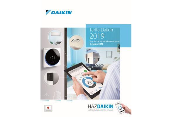 daikin presenta su nueva tarifa de precios para 2019