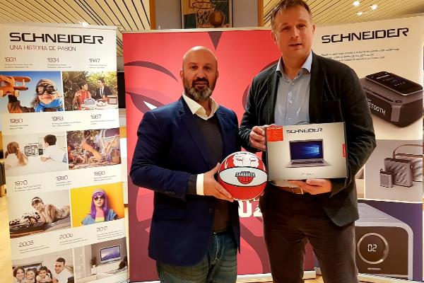 schneider consumer iberia nuevo patrocinador oficial del tecnyconta zaragoza durante la temporada 20182019
