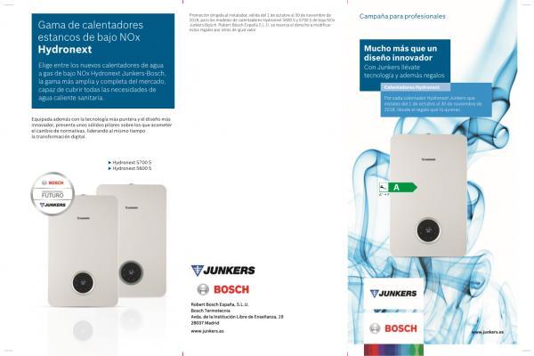junkers premia la instalacin de calentadores con regalos tecnologa y bonificaciones de hasta 600 euros