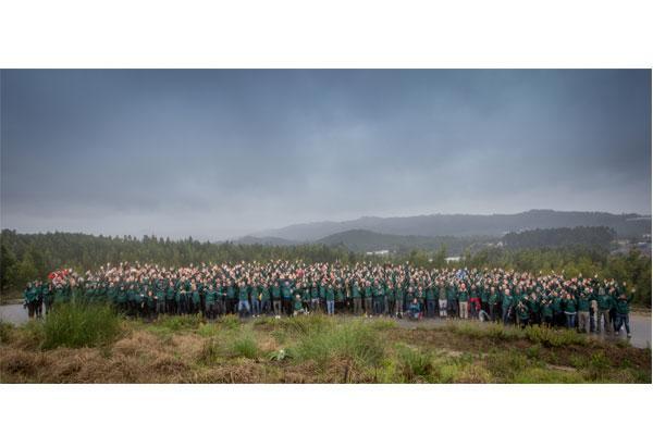los empleados de lg iberia participan en la reforestacin de la maia