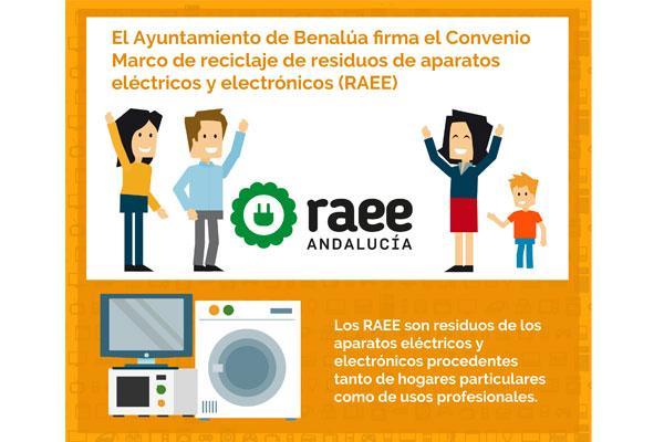 el ayuntamiento de benala granada firma el convenio marco para el reciclaje de residuos de aparatos elctricos y electrnicos