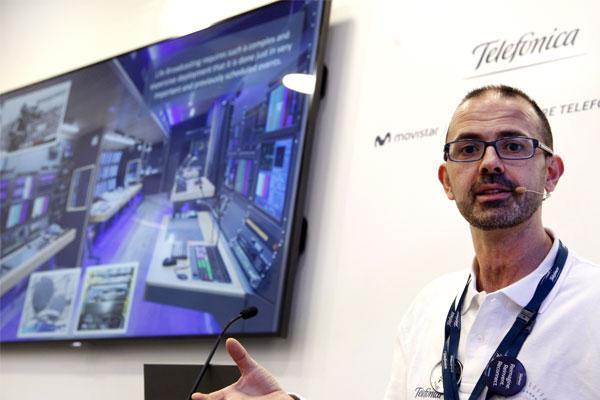 telefnica presenta una novedosa forma de retransmisin y realizacin de televisin con 5g