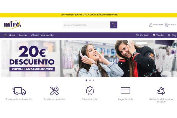 mir electrodomsticos inaugura nueva web con mayores servicios