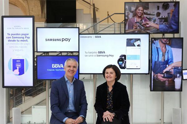 bbva y samsung colaboran en la creacin de nuevos servicios para dispositivos mviles