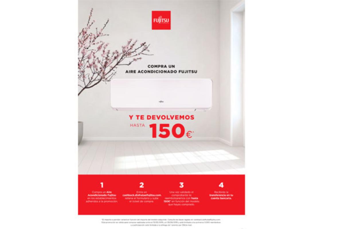 fujitsu reembolsar con hasta 150euro a aquellos que compren un aire acondicionado