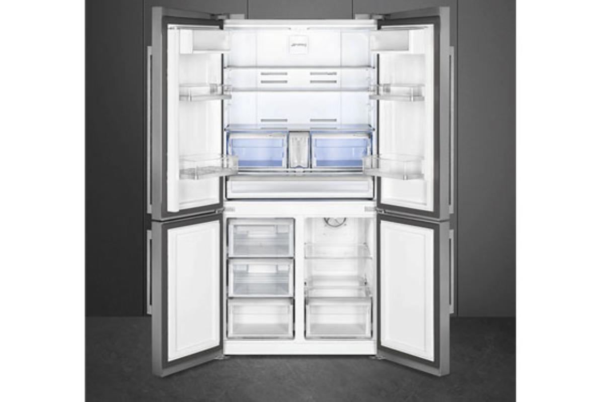 nuevo combinado de cuatro puertas con icemaker de smeg