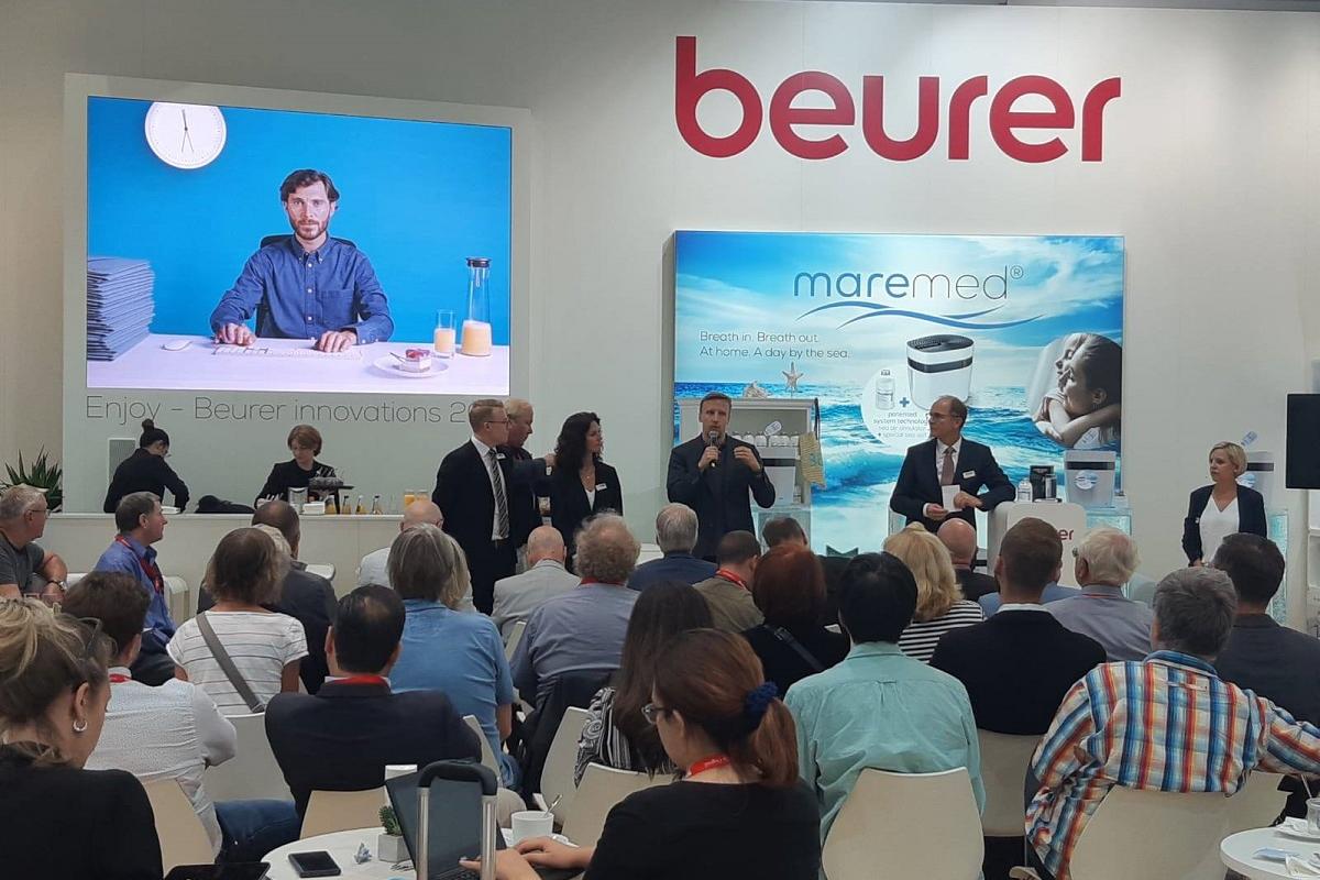 beurer expone 50 de sus novedades en la feria ifa de berln 2019