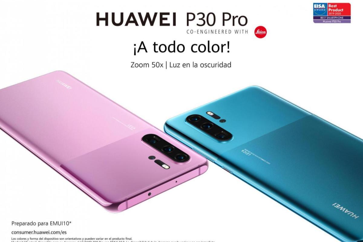 huawei anuncia nuevos colores y un rcord de ventas de sus smartphones de la serie p30
