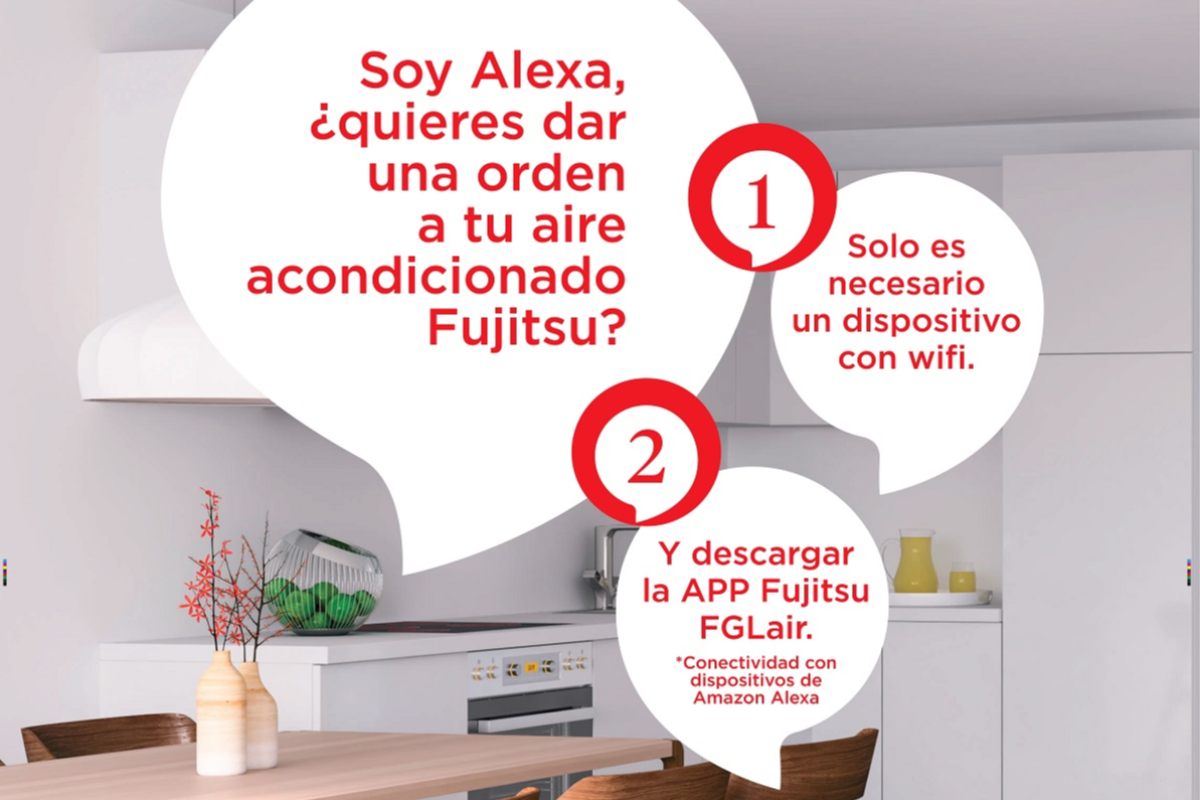 ya es posible controlar los splits de pared fujitsu con control wifi a travs del dispositivo alexa
