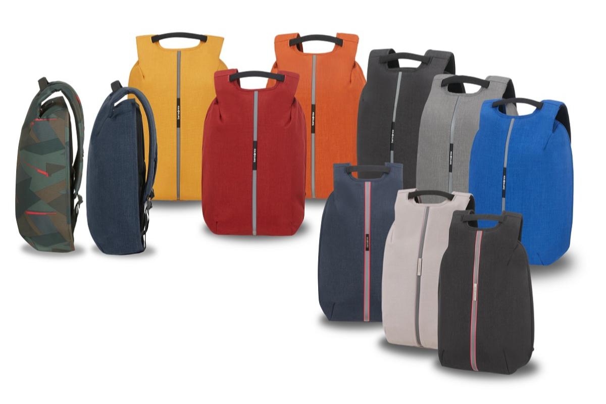 samsonite lanza su mochila antirobo fabricada con material reciclado