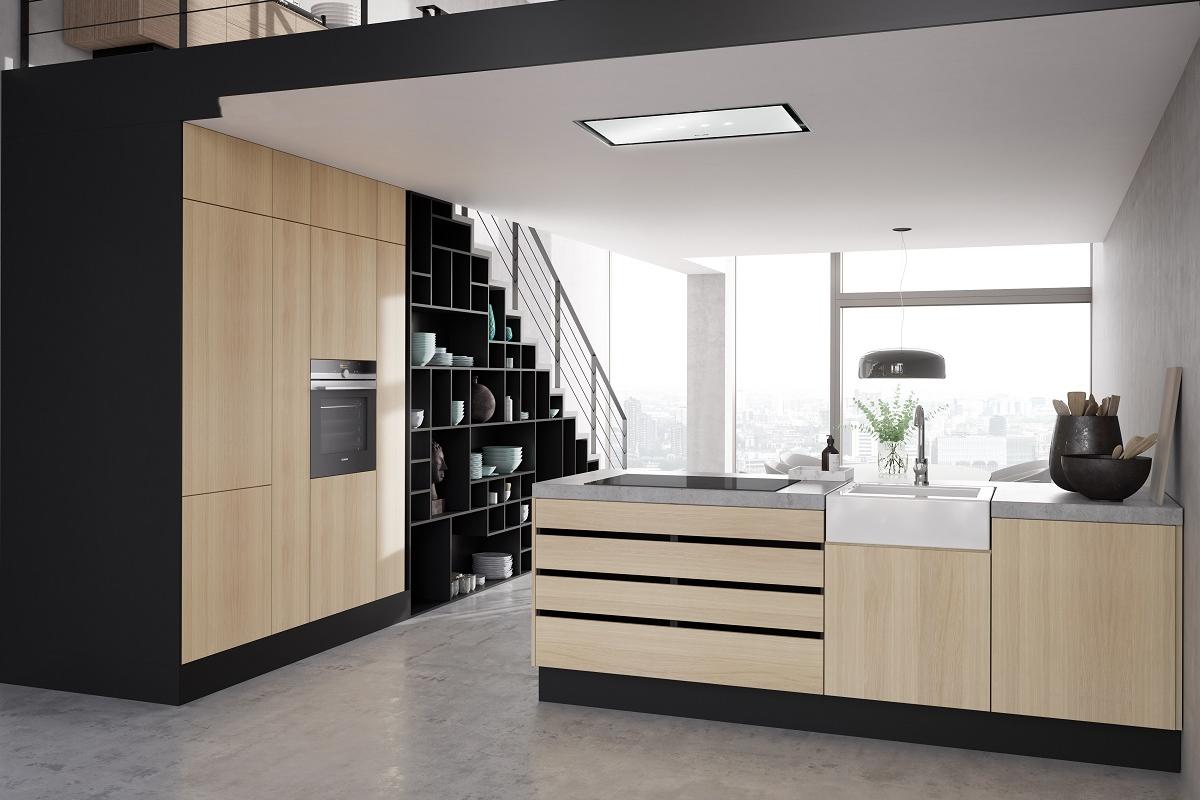 los nuevos extractores de techo siemens se adaptan a todo tipo de techos y cocinas