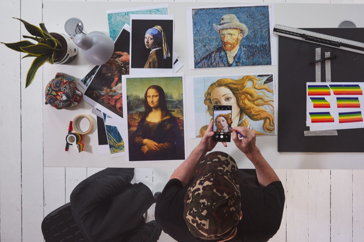 el artista hey reilly vuelve a imaginar obras de arte clsicas con samsung galaxy note10