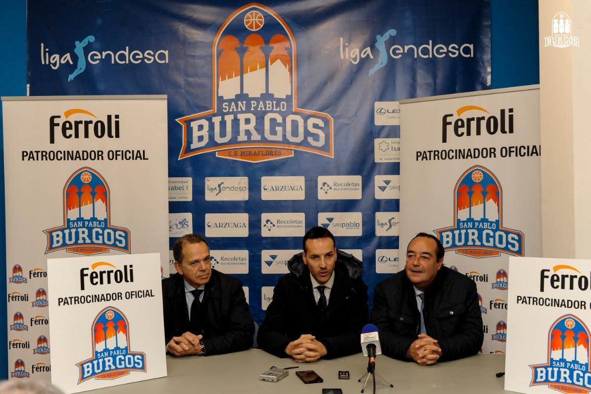 ferroli patrocinador oficial del club baloncesto san pablo burgos