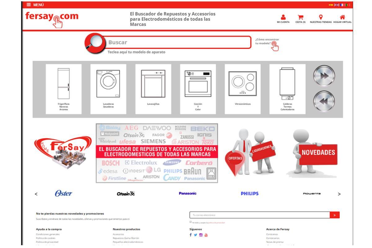 la web de fersay se consolida como referente en el sector de los recambios