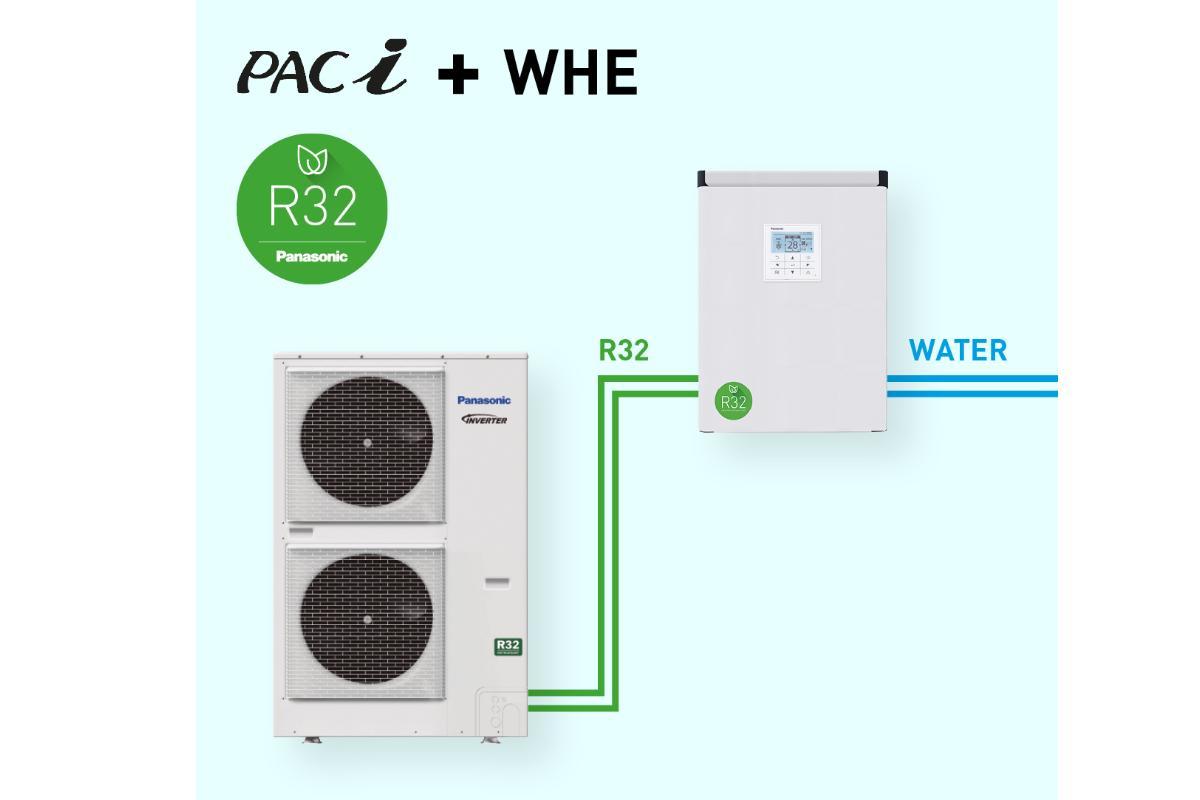 panasonic lanza el intercambiador de calor por agua r32 paci