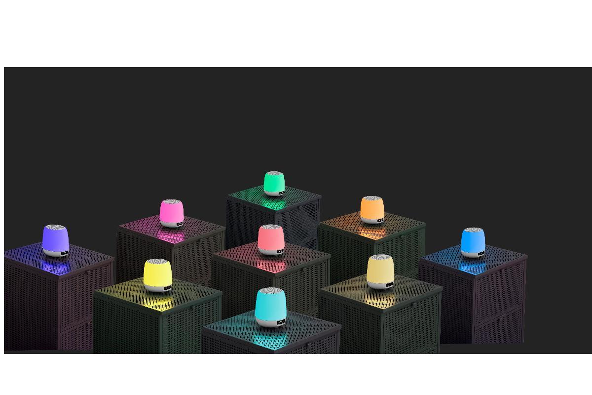 ameniza tus maanas con msica y luz ambiental con clock speaker 3 light de energy sistem