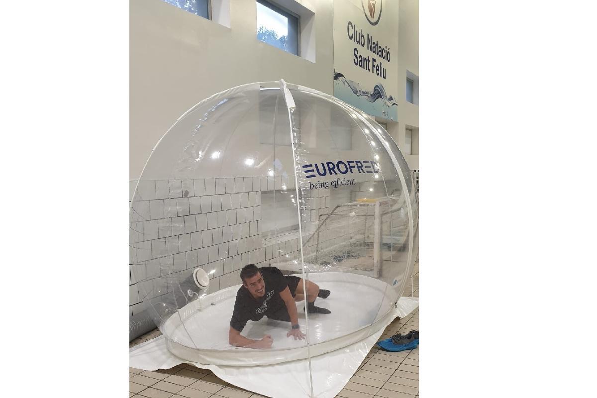 el club nataci sant feliu confa en bubble pure air para mejorar el rendimiento de sus deportistas