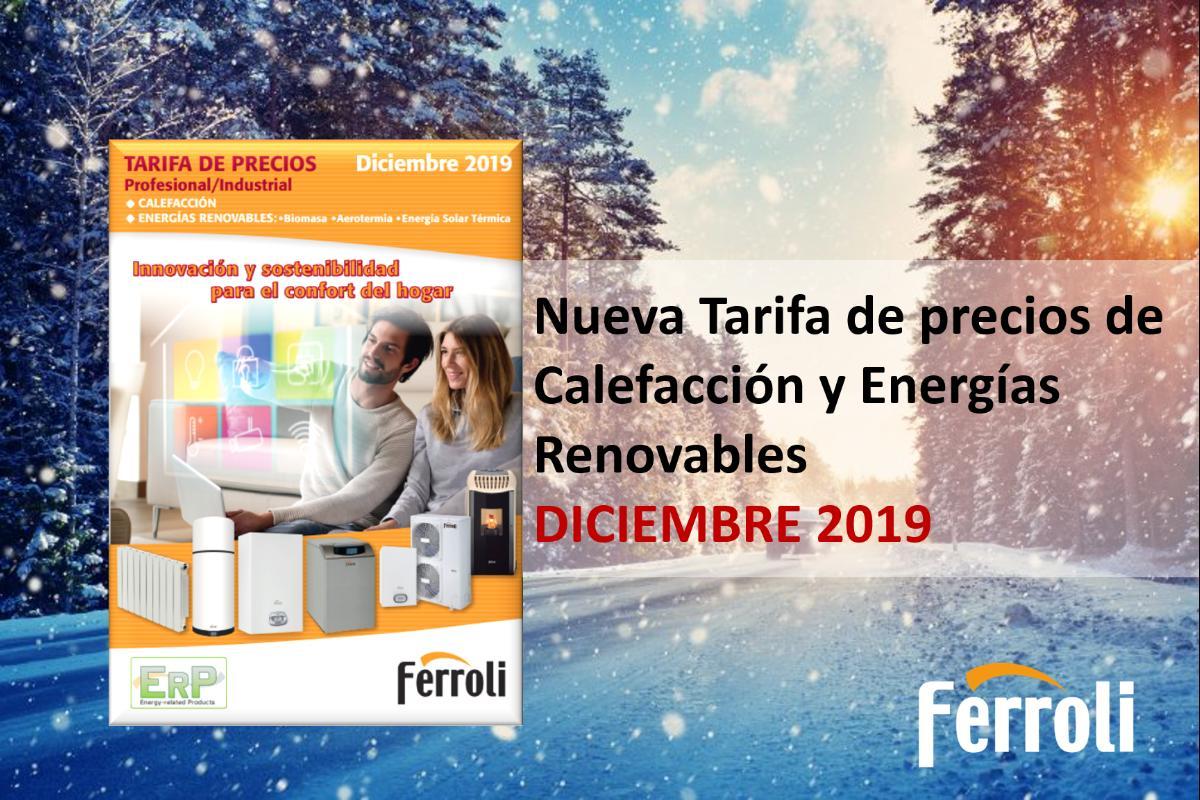 ferroli presenta su nueva tarifa de precios de calefaccin y energas renovables