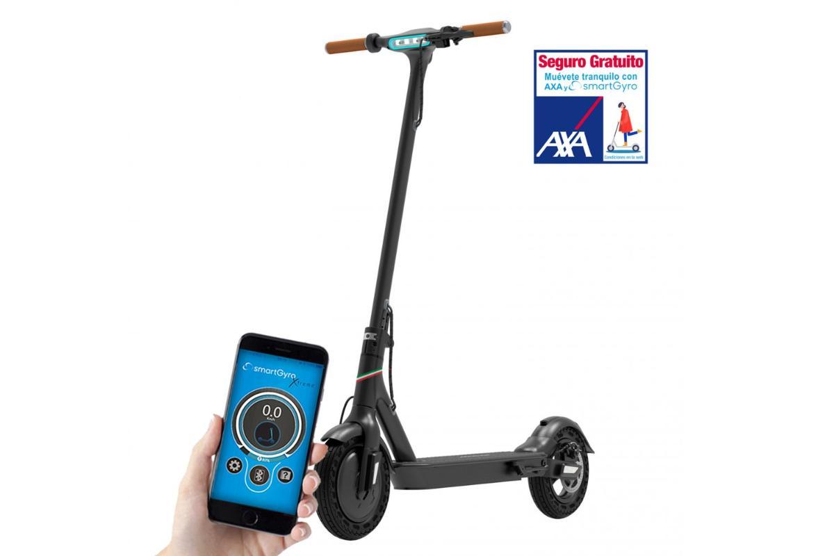 smartgyro xtreme baggio 10 v20 el patinete elctrico con ruedas macizas y antipinchazos