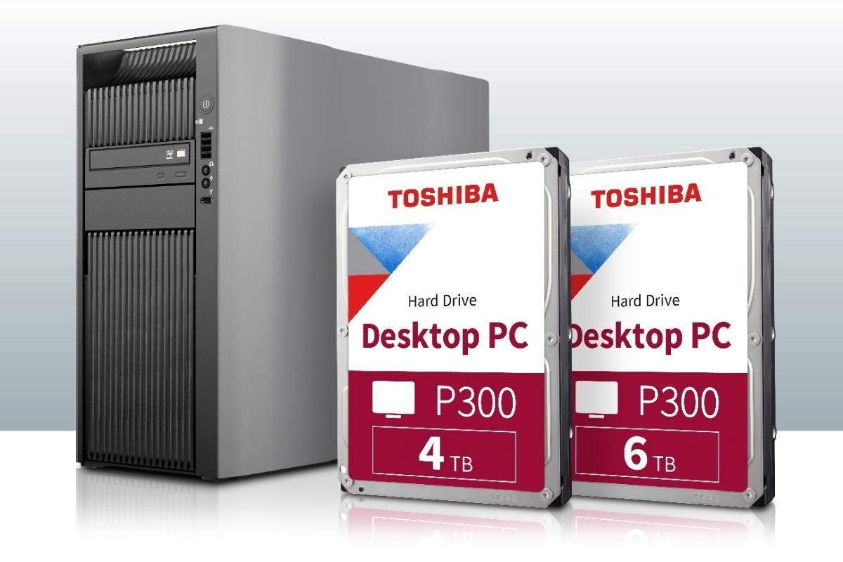 toshiba ampla el almacenaje con 4 tb  y 6 tb para la serie p300 de escritorio