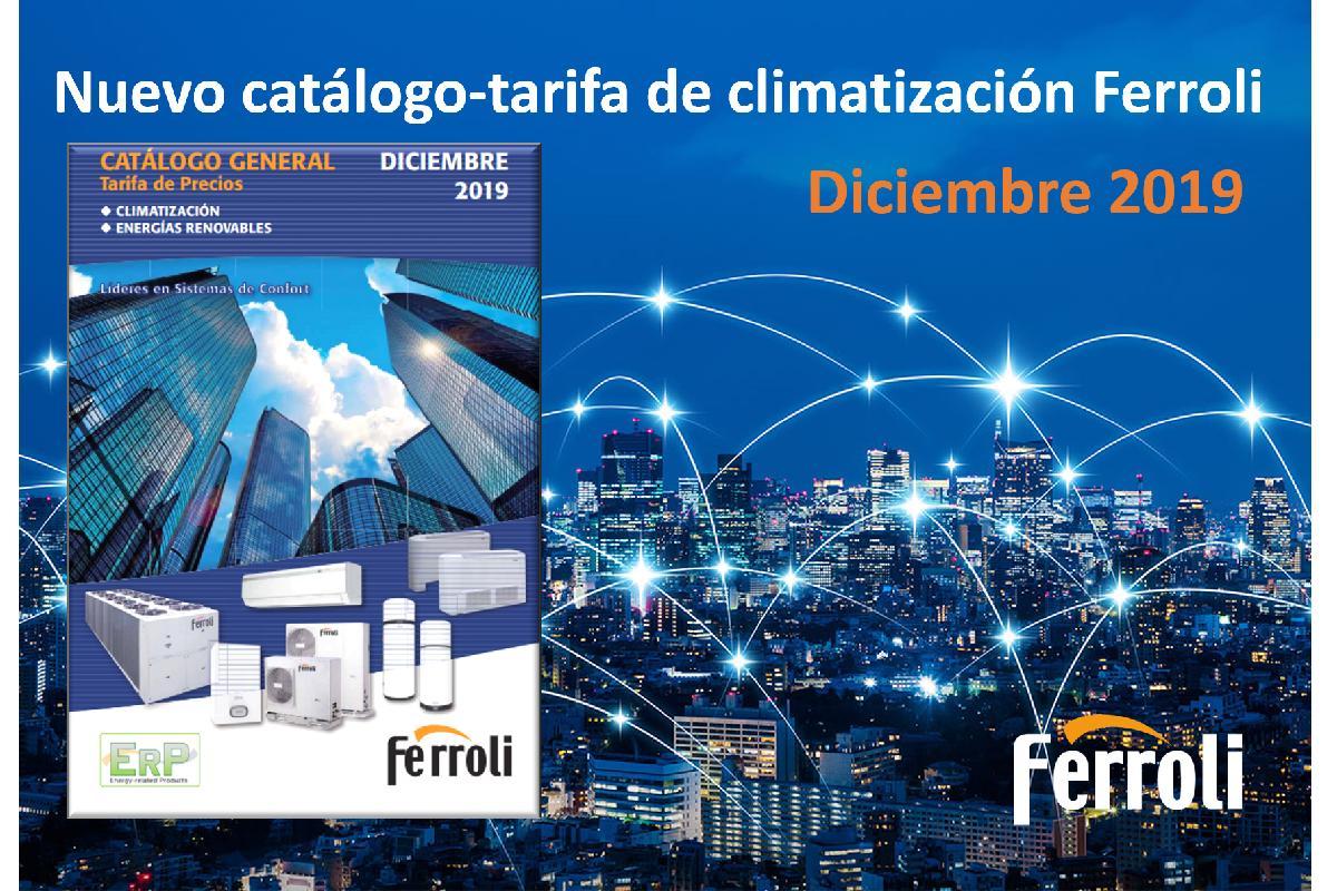 ferroli presenta su nuevo catlogo con los precios de climatizacin 2019