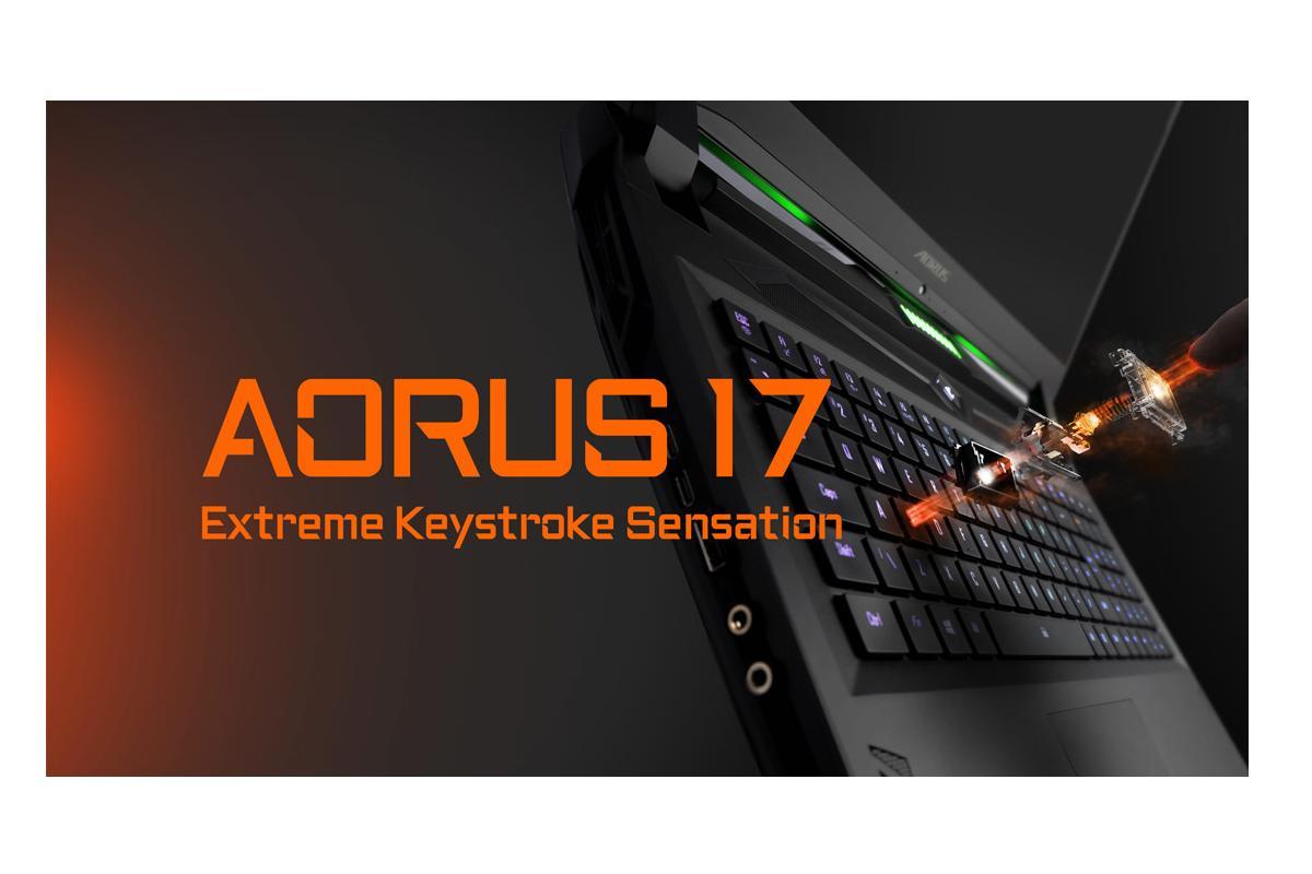 aorus 17 el porttil emgamer emcon teclado mecnico omron e iluminado de gigabyte