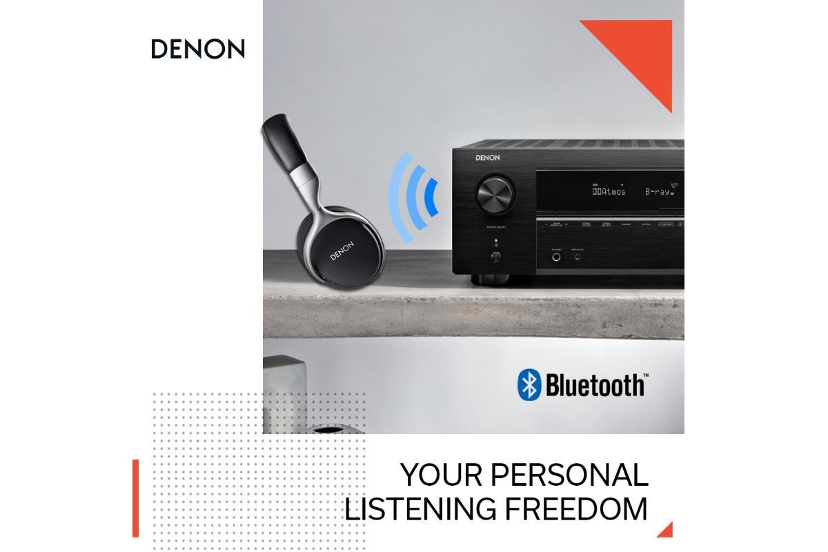 denon incorpora a sus ltimos receptores avr la transmisin de sonido va bluetooth