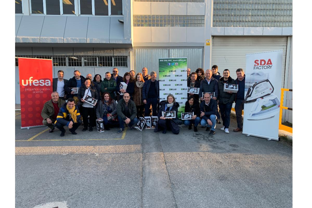 el equipo comercial de milar caslesa visita la planta de planchado de ufesa en vitoria