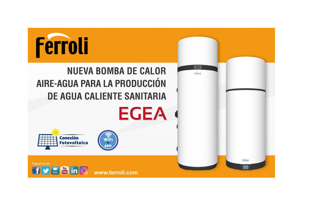 ferroli presenta la serie egea bombas de calor para producir agua caliente sanitaria