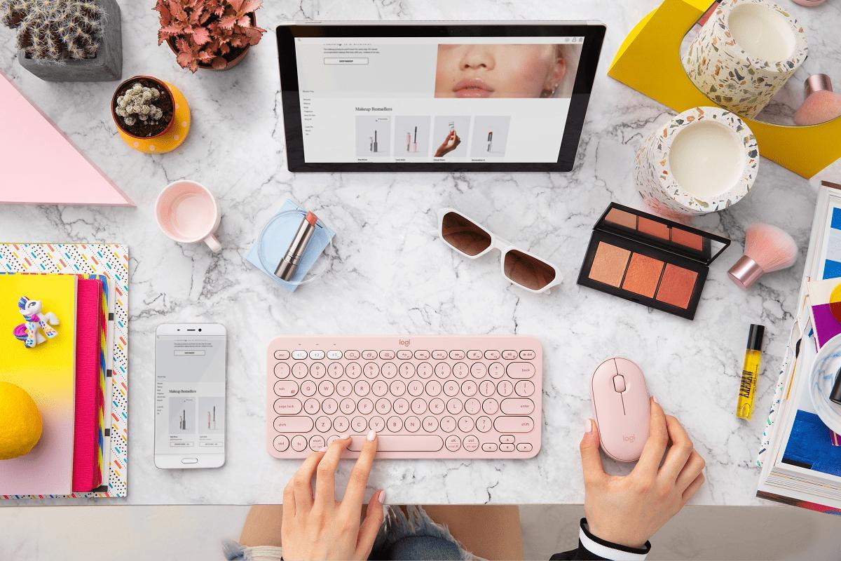 personaliza tu espacio de trabajo con logitech pebble mouse m350 y el teclado k380