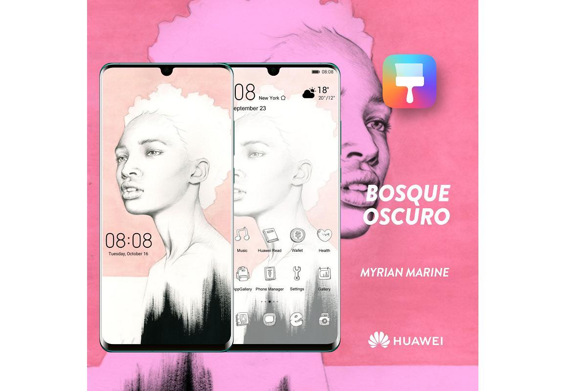 huawei exhibe la obra de el club de las mujeres in visibles en sus smartphones