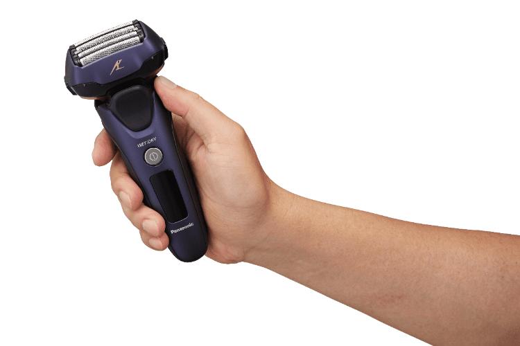 panasonic eslv67 afeitadora de cinco cuchillas que detecta la densidad de la barba