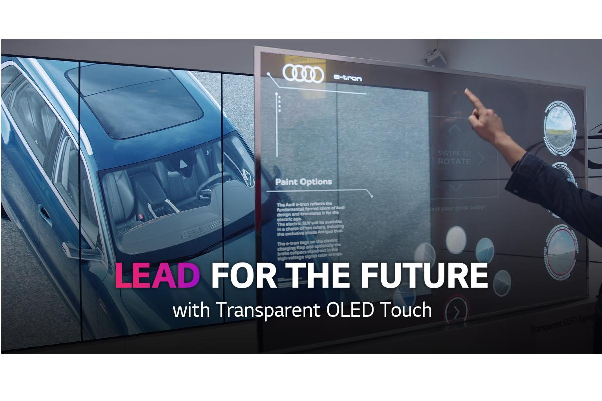 transparent oled touch de lg la pantalla tctil futurista todoterreno