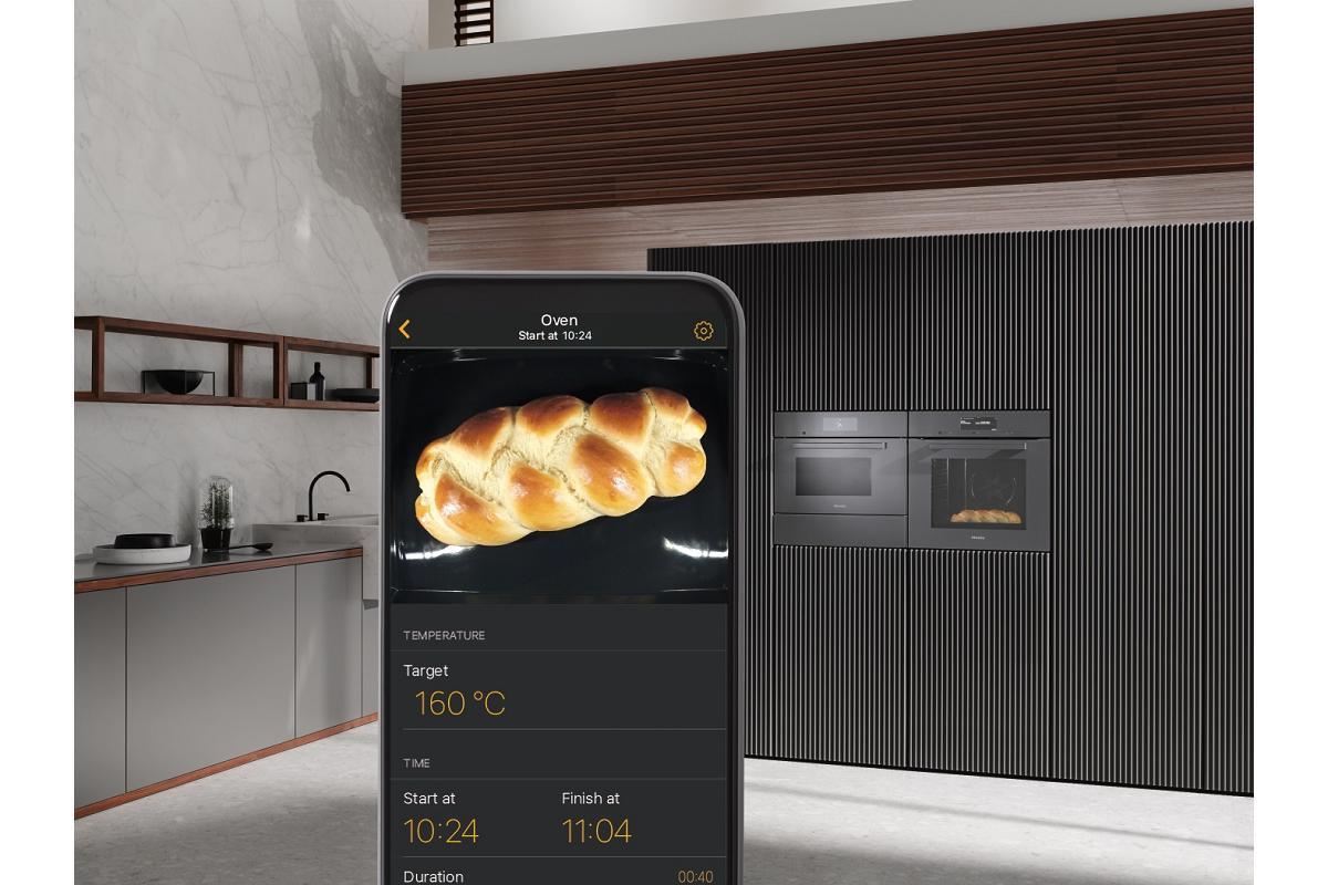 cocinar a distancia sin abrir la puerta del horno es posible con foodview de miele