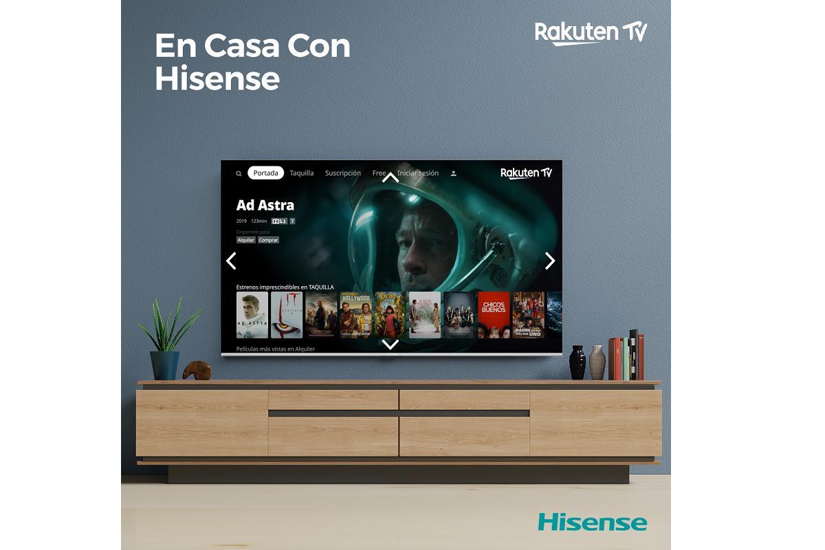 qudate en casa con hisense mientras disfrutas de rakuten tv