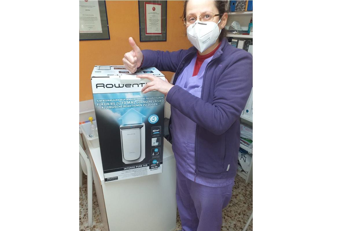 rowenta dona purificadores de aire a residencias de ancianos