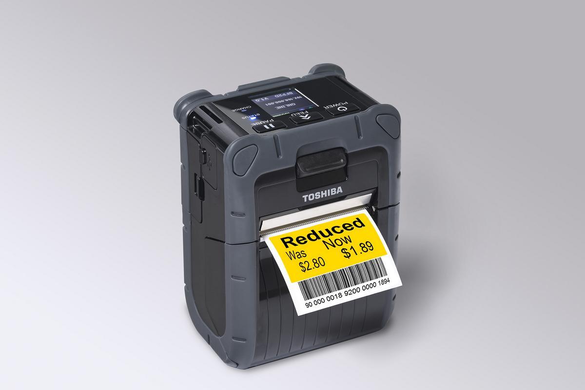 toshiba lanza una impresora de etiquetas porttil un 50 ms rpida que los modelos anteriores