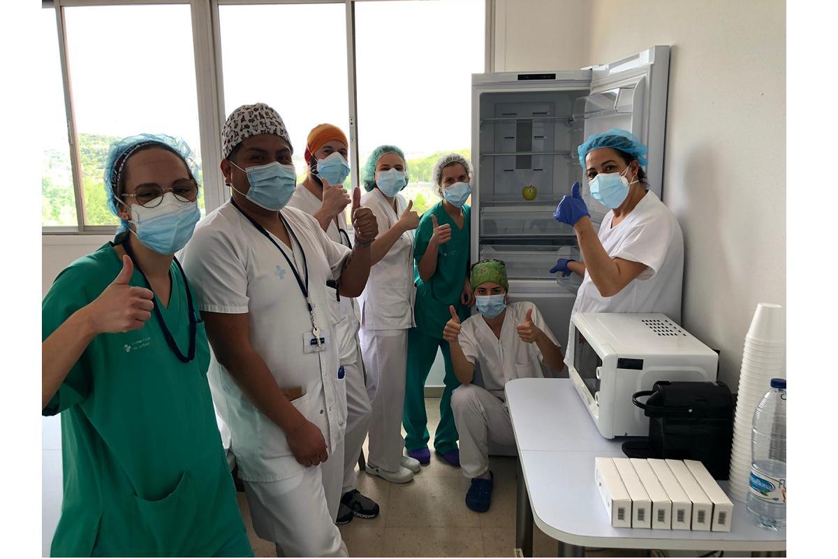 whirlpool aporta su granito de arena donando electrodomsticos a los sanitarios