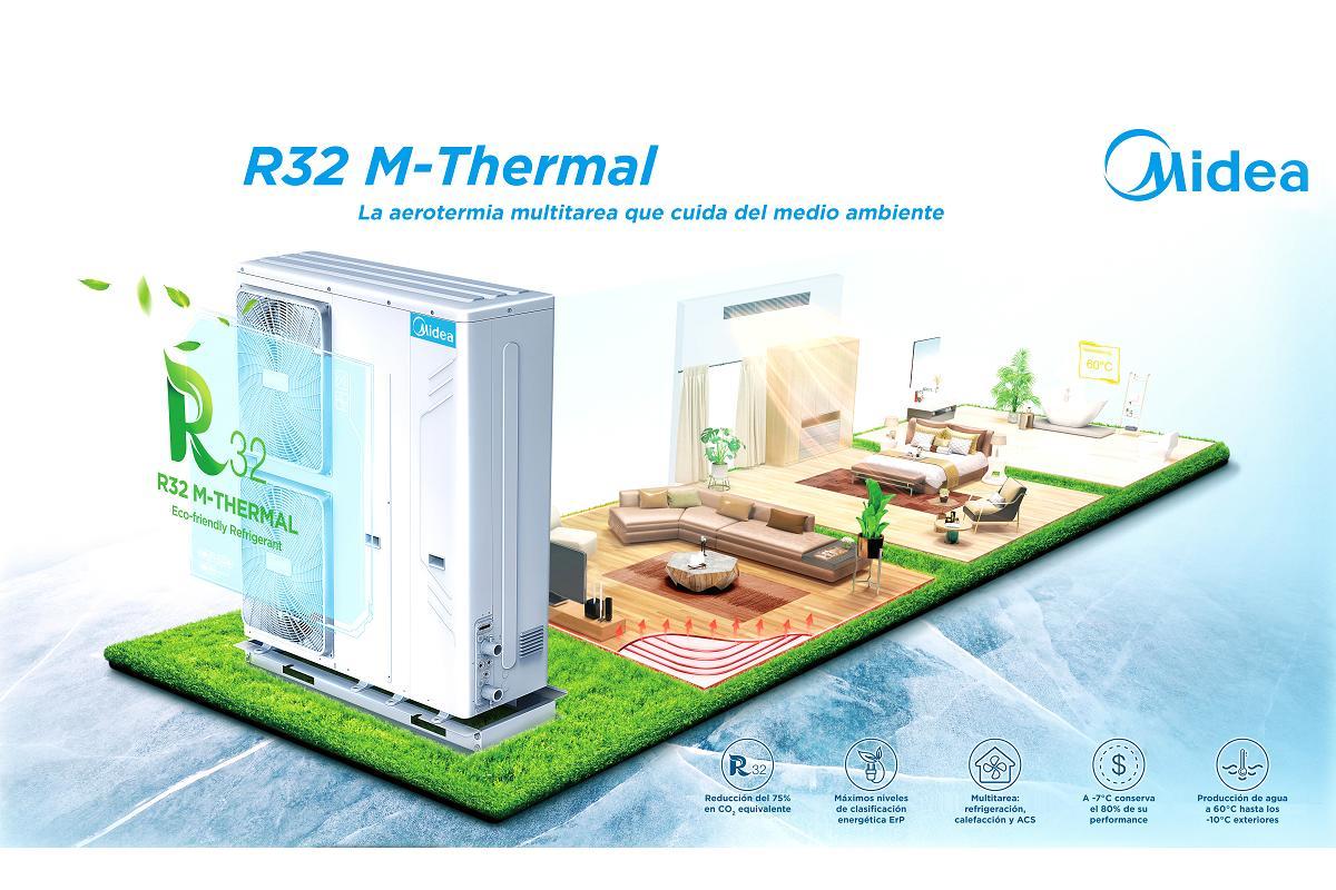 nueva gama de aerotermia mthermal r32 de midea