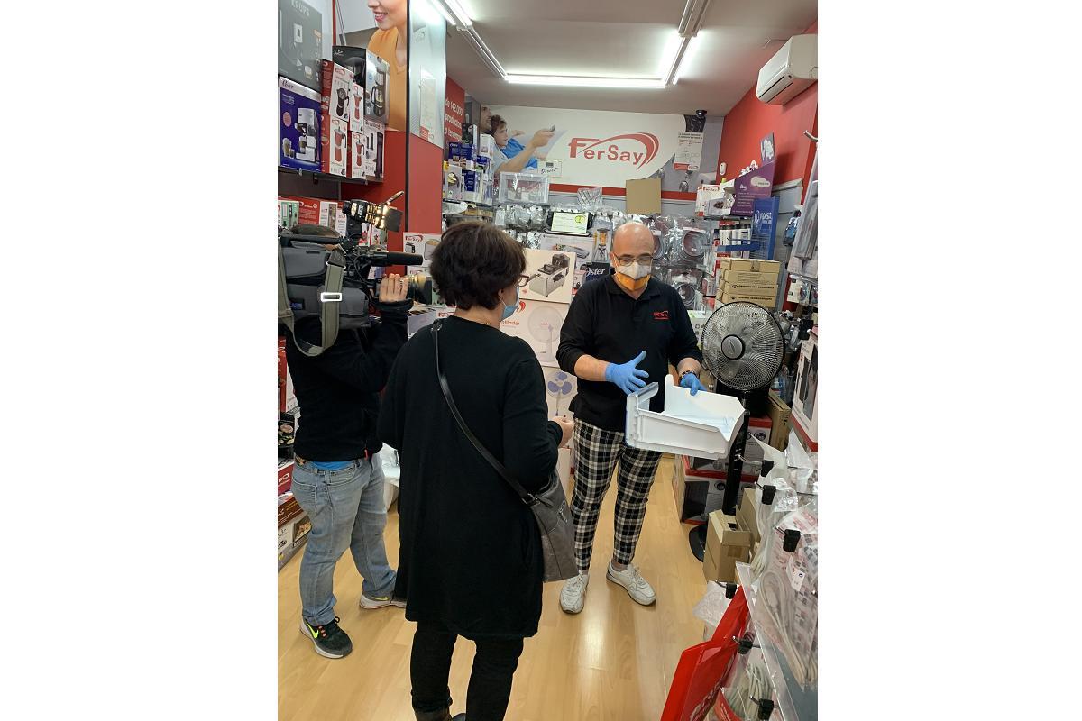 telemadrid visita una de las tiendas de fersay en la capital