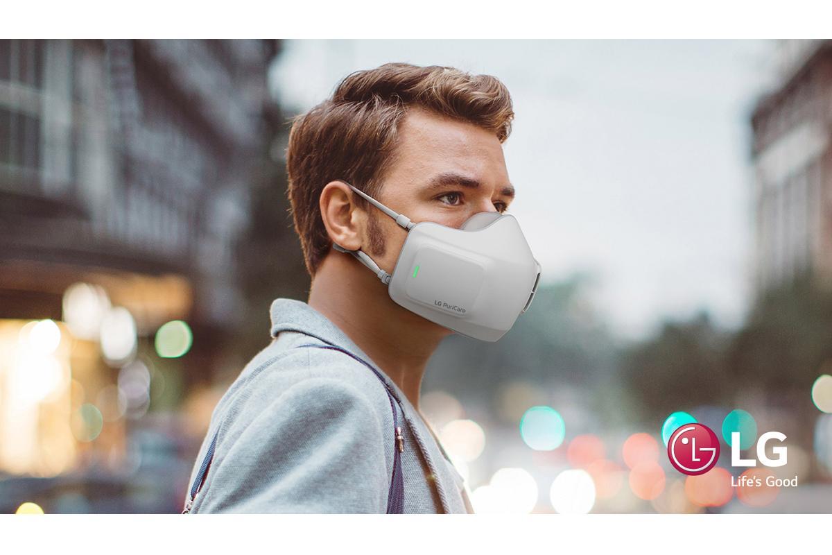 lg desarrolla una mascarilla facial purificadora de aire porttil a batera